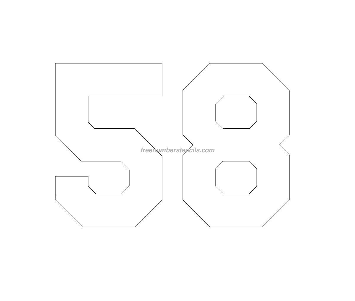 free jersey printable 58 number stencil freenumberstencils com