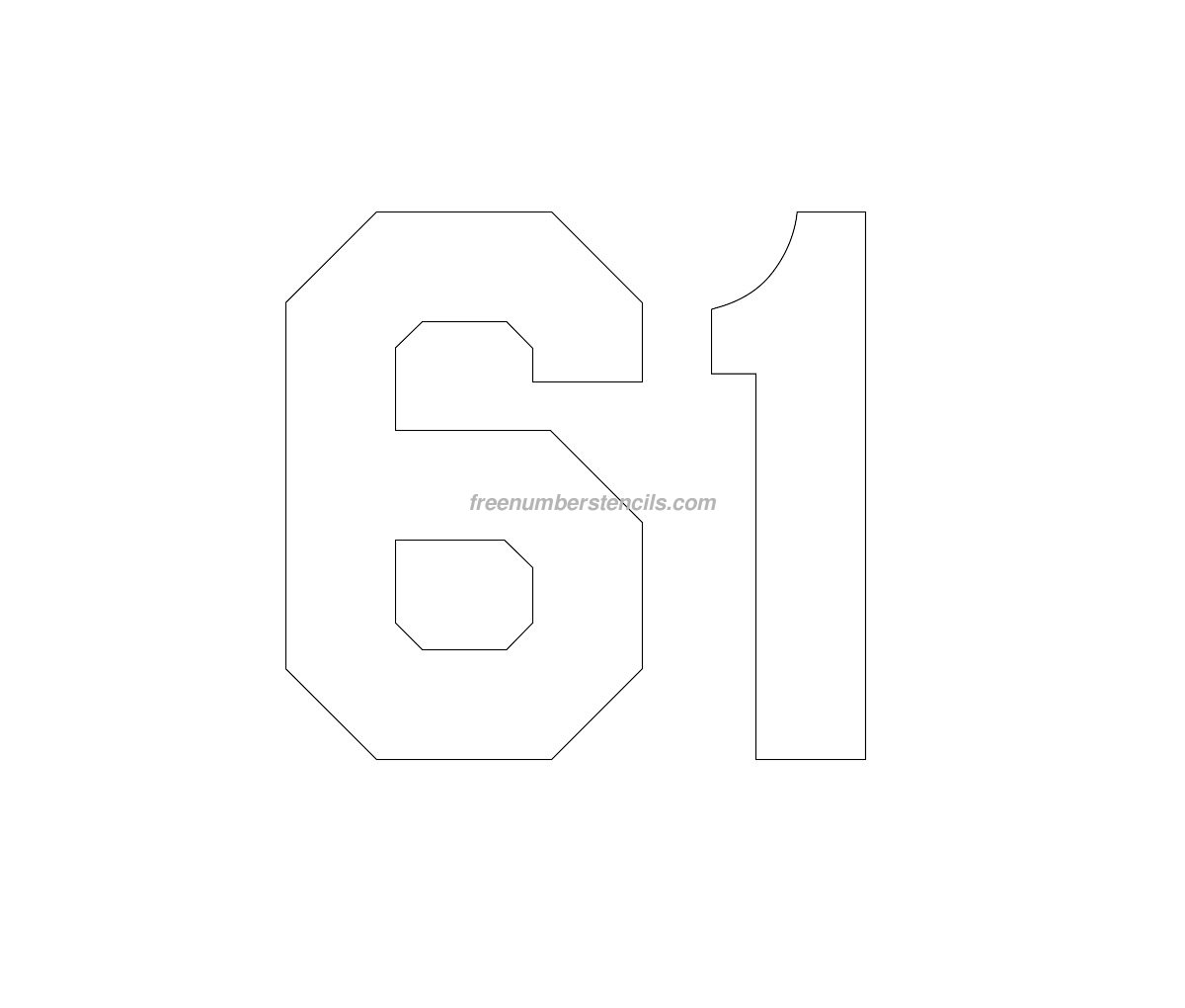 free number templates to print - free jersey printable 61 number stencil