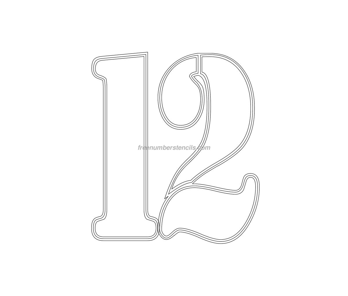 Free Military 12 Number Stencil