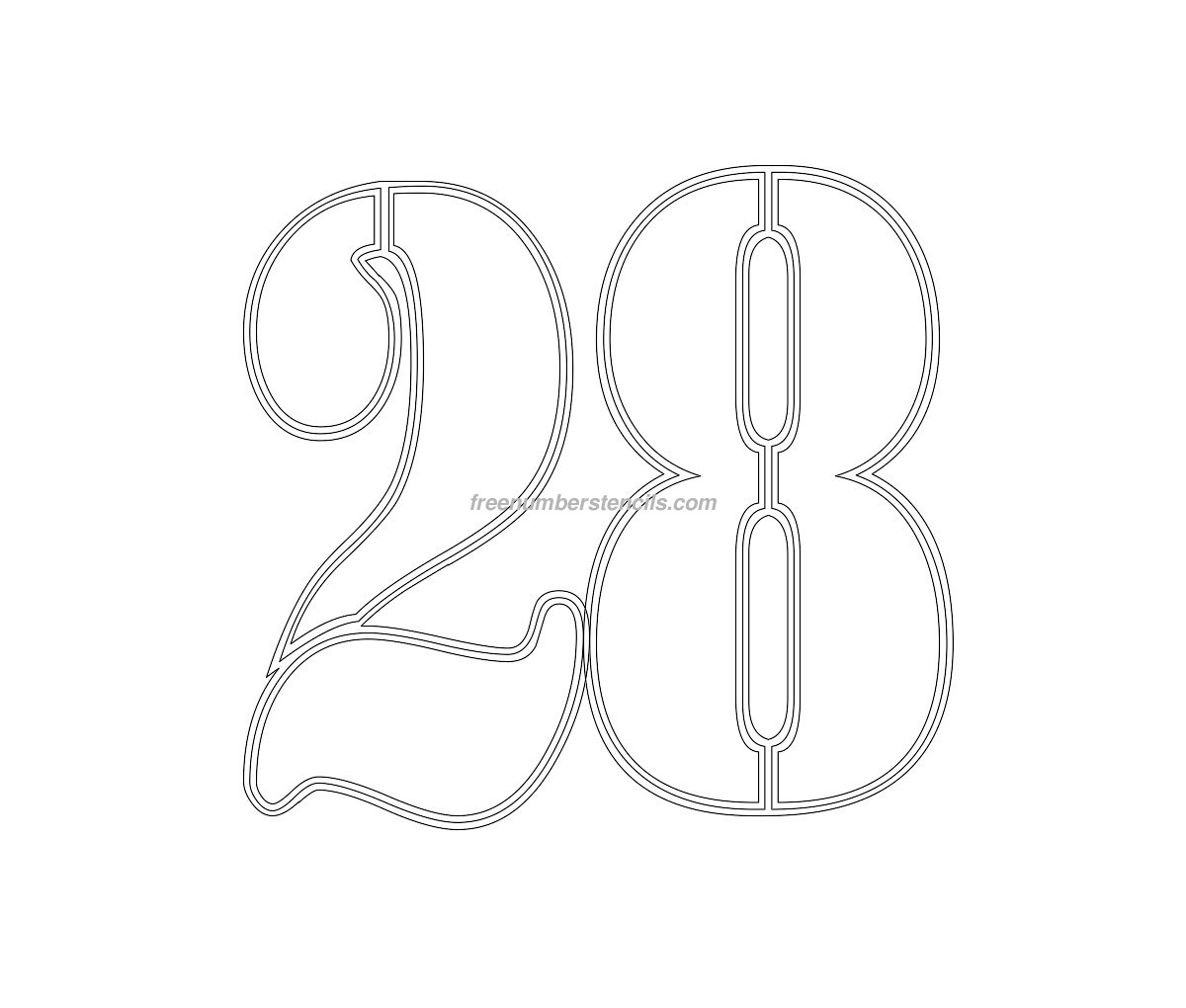 Free Military 28 Number Stencil