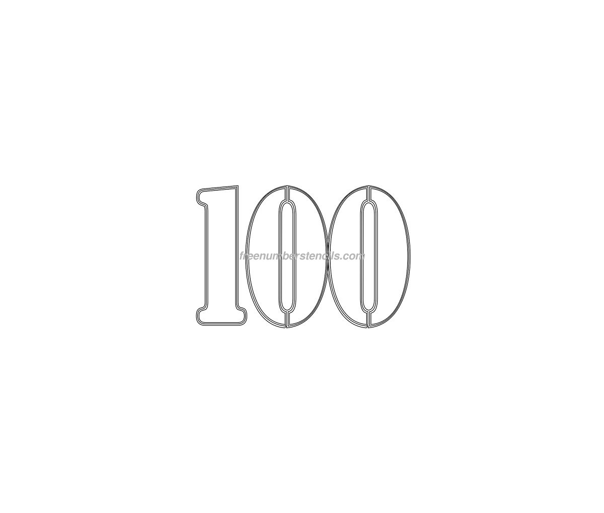 template for numbers 1 100 - number 100 template bing images