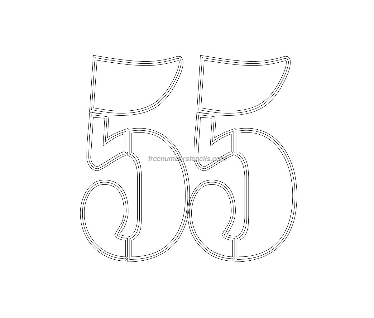 free military 55 number stencil
