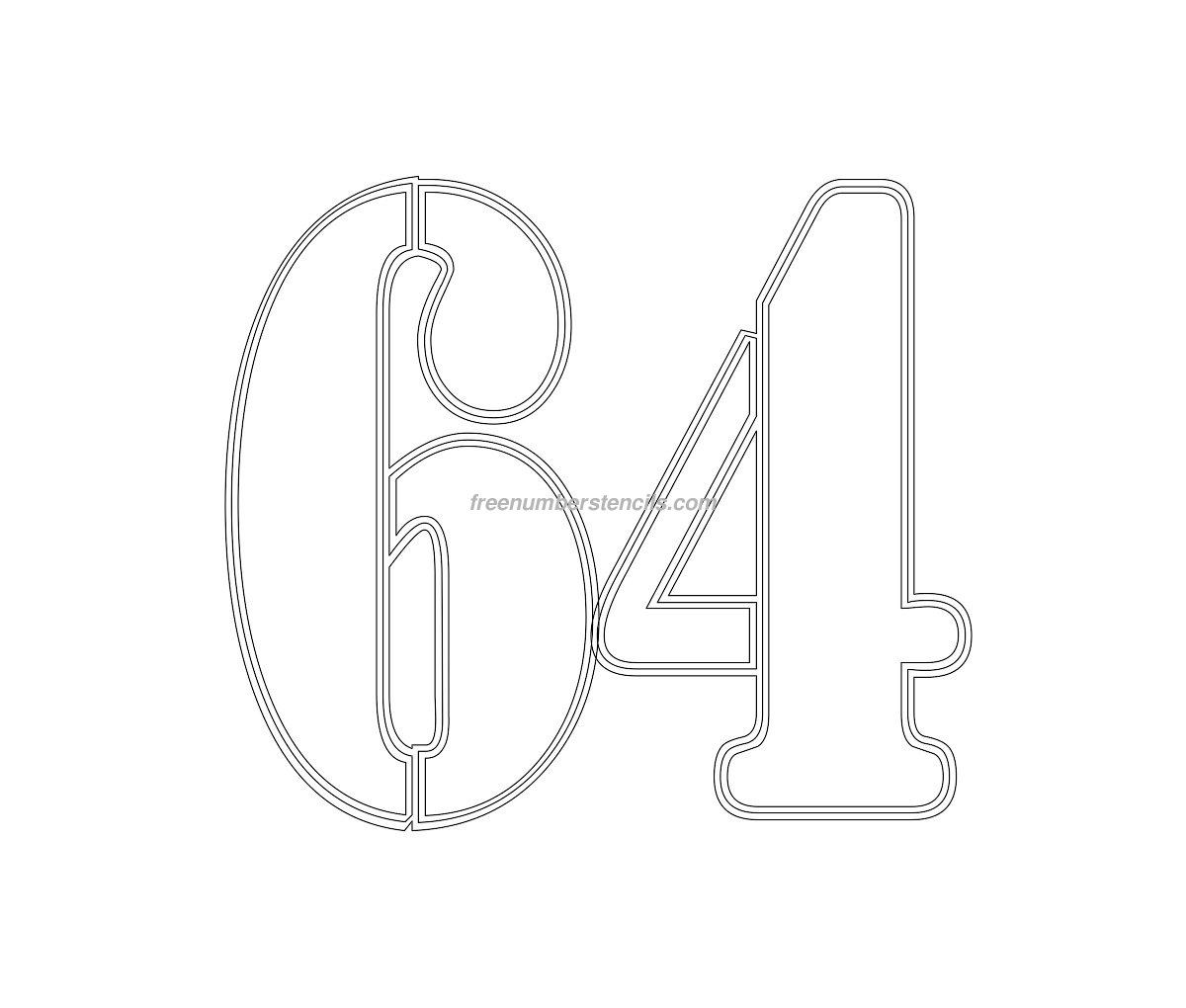 Free Military 64 Number Stencil
