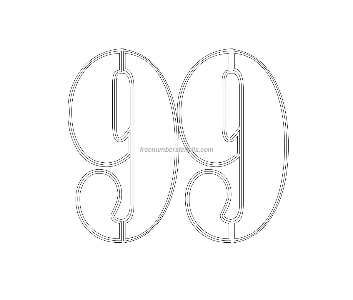 free military 99 number stencil