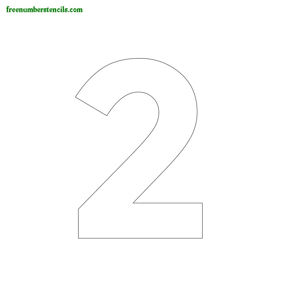 image relating to Number 2 Printable named Ground breaking Range Stencils On the web Printable -