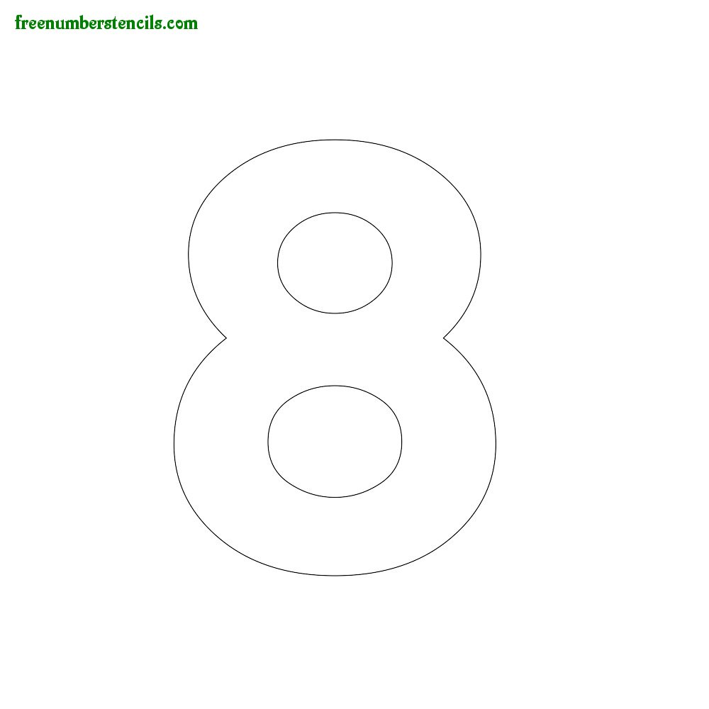 Modern number stencils online printable for Free number templates to print