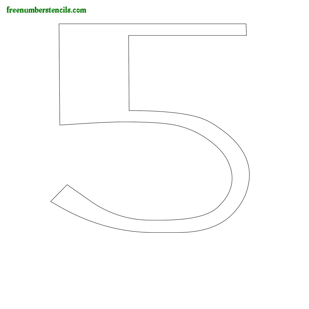 Old Classic stencils to print online - Number 5