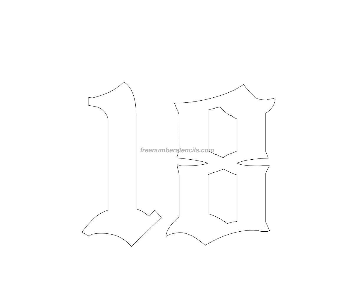 freenumberstencils.com/old-school/number-18.jpg