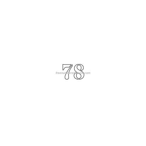 stencil-number-1-inch-78
