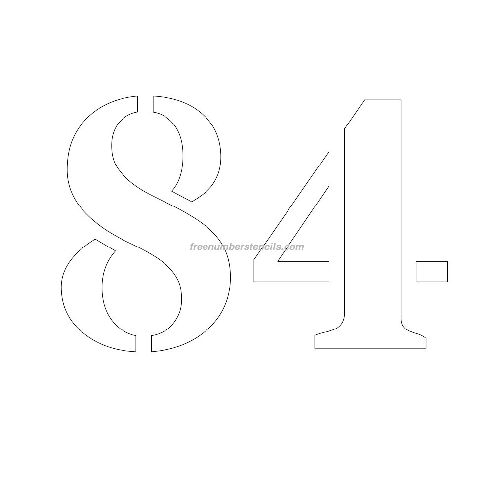 free number templates to print - free 10 inch 84 number stencil