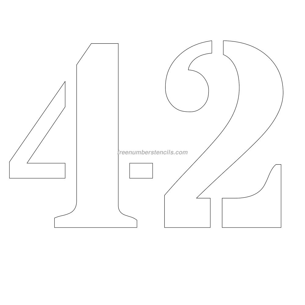 Free 12 Inch 42 Number Stencil