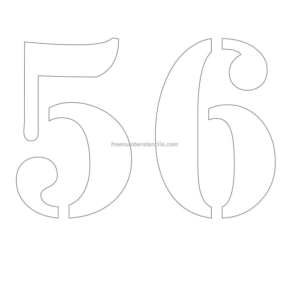 stencil-number-12-inch-56