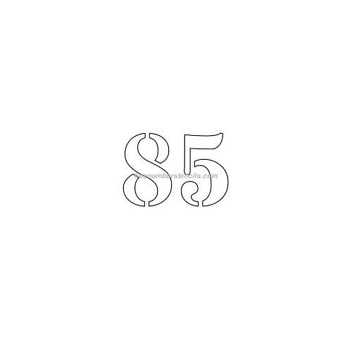 Free 2 Inch 85 Number Stencil Freenumberstencils Com
