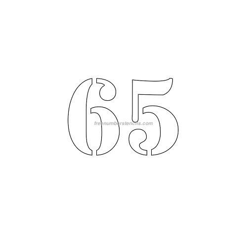 Free 3 Inch 65 Number Stencil - Freenumberstencils.com
