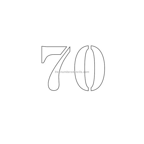 Free 3 Inch 70 Number Stencil