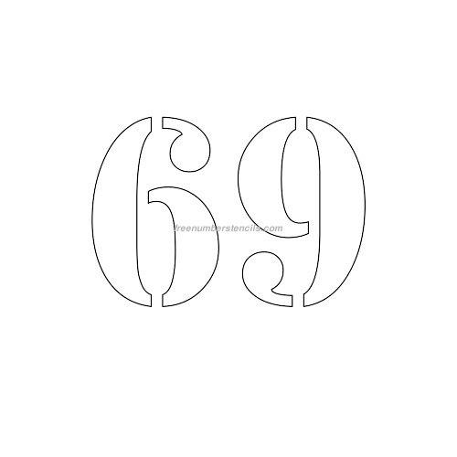 stencil-number-4-inch-69