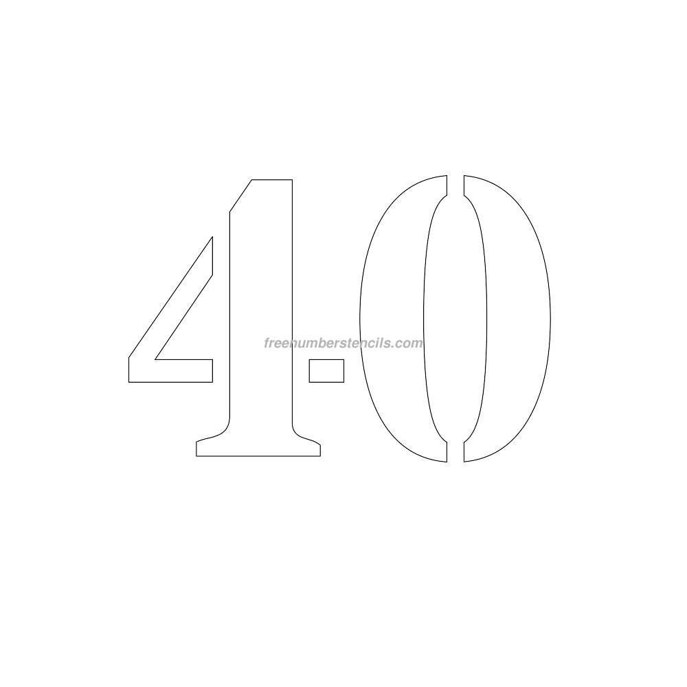 free number templates to print - free 8 inch 40 number stencil