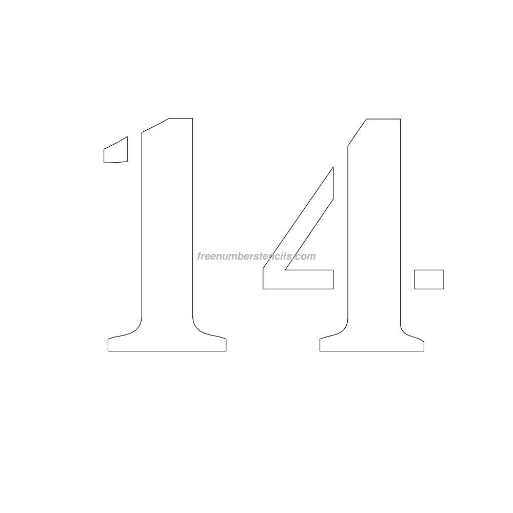 stencil-number-9-inch-14