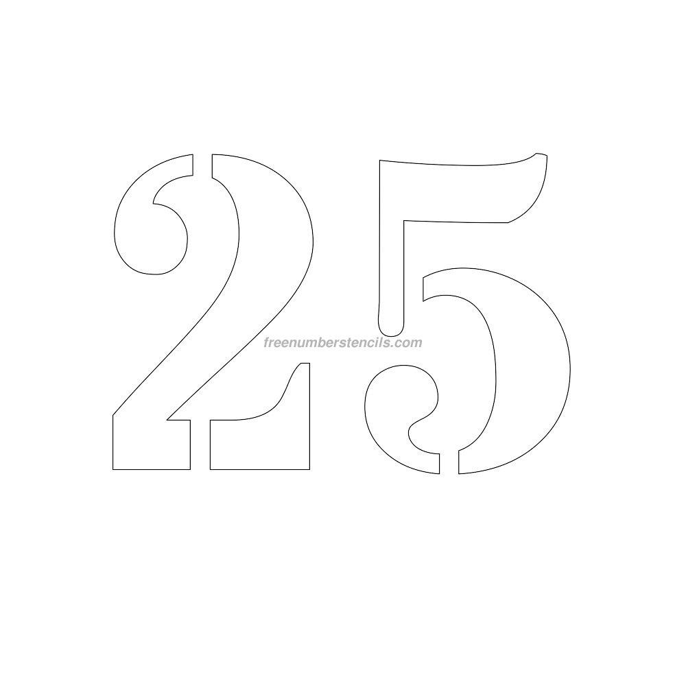 free 9 inch 25 number stencil