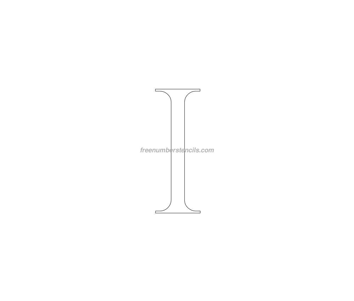 stencil-roman-greek-number-1