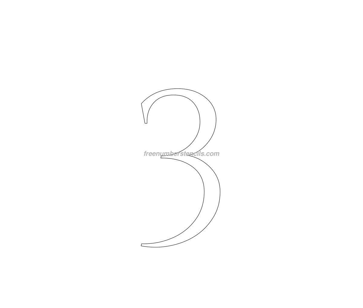 stencil-roman-greek-number-3