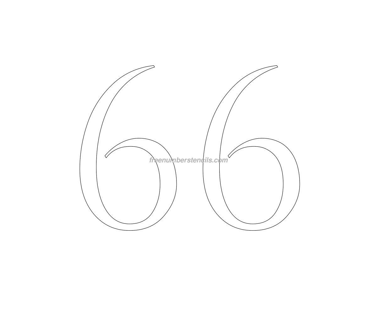 stencil-roman-greek-number-66