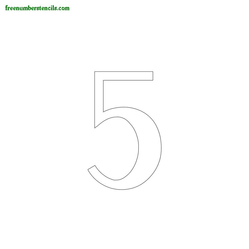 Script stencils to print online - Number 5
