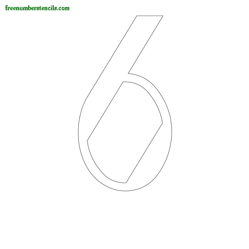 Script stencils to print online - Number 6