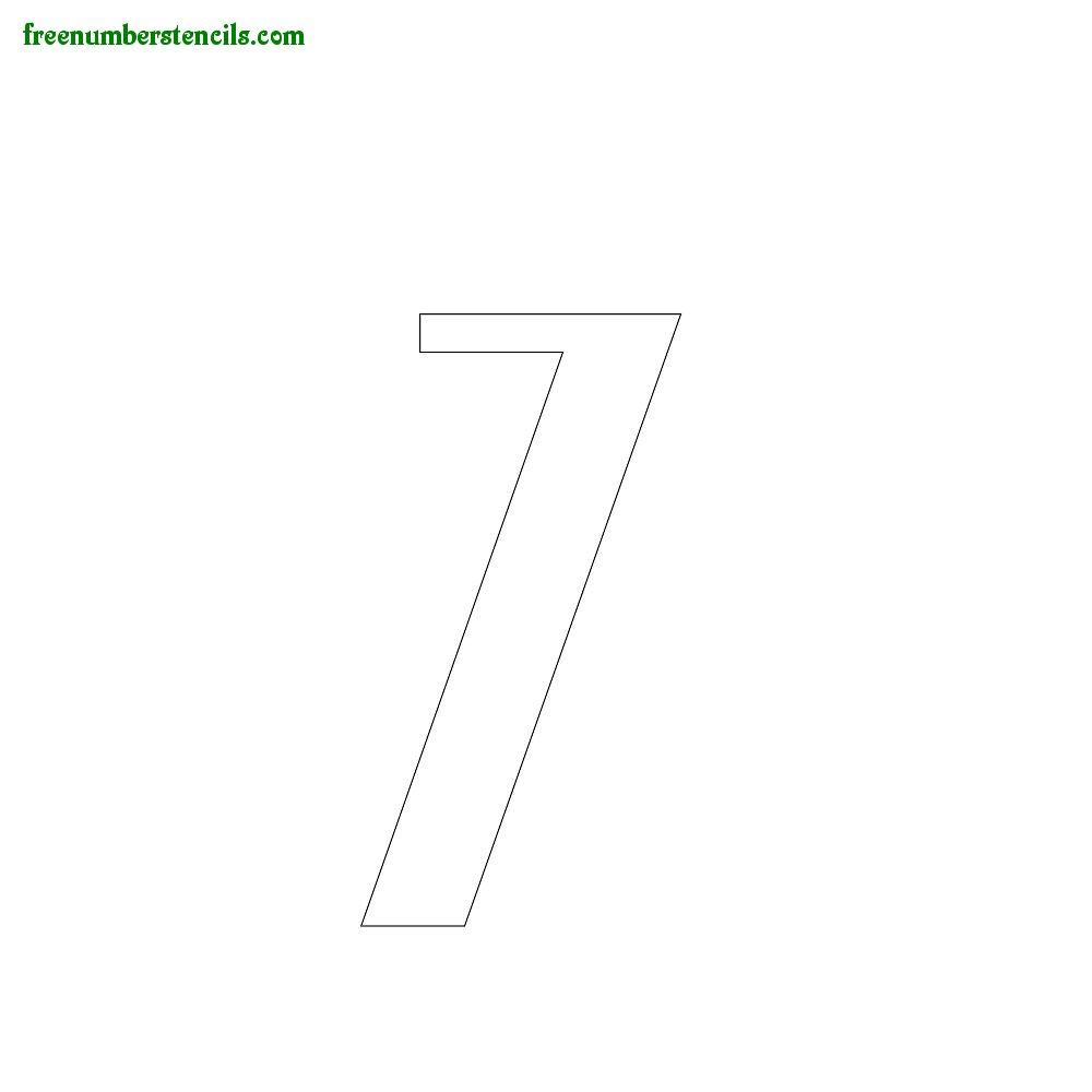 Script stencils to print online - Number 7