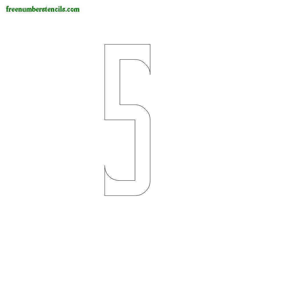 Slab Serif stencils to print online - Number 5