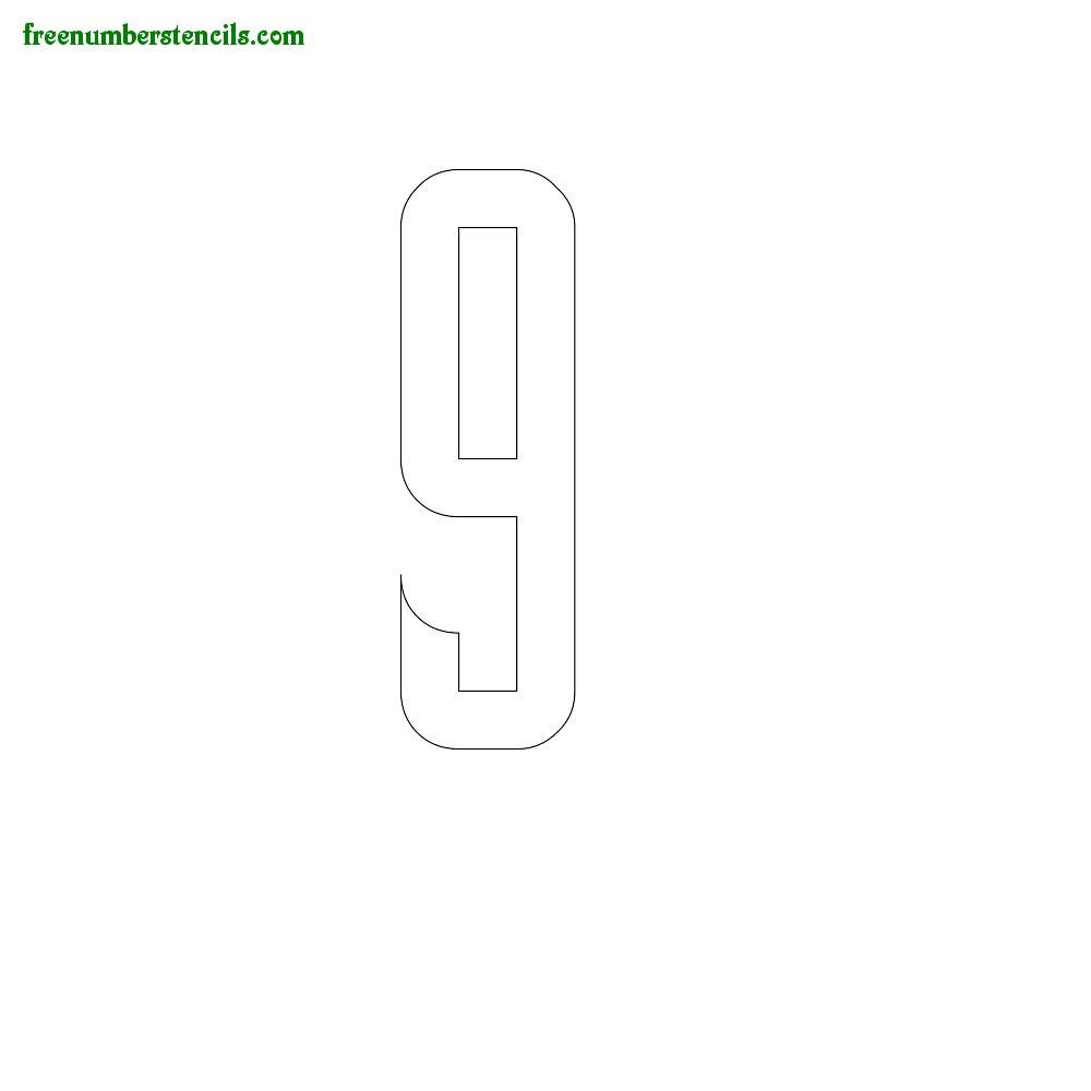 Slab Serif stencils to print online - Number 9
