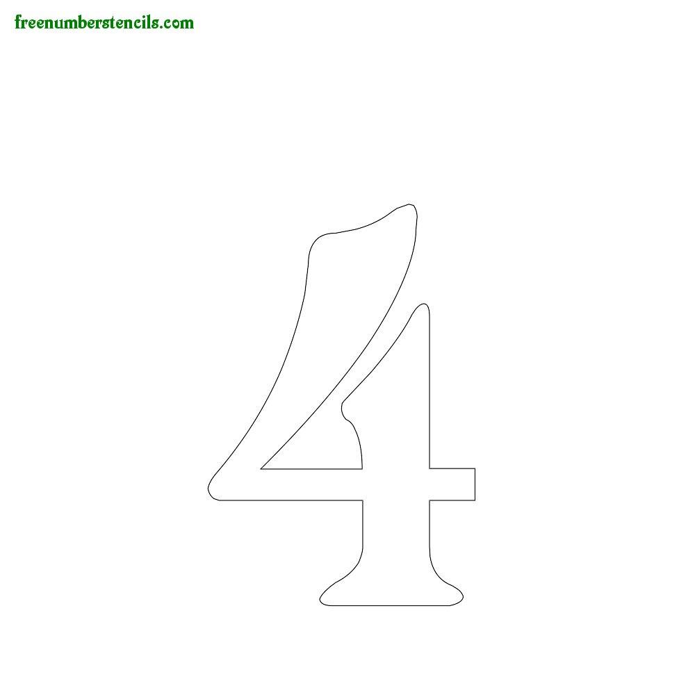 Spirals stencils to print online - Number 4