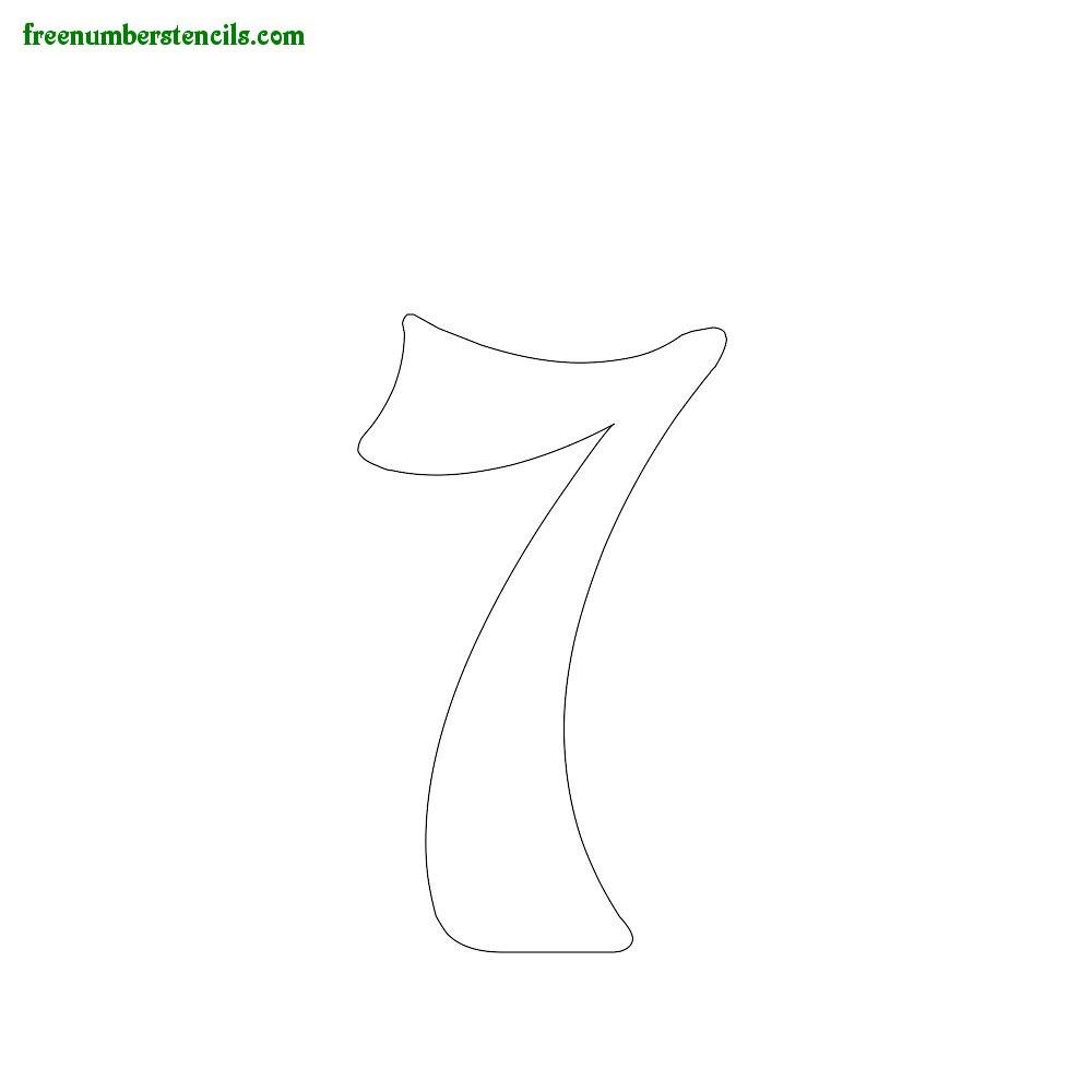 Spirals stencils to print online - Number 7