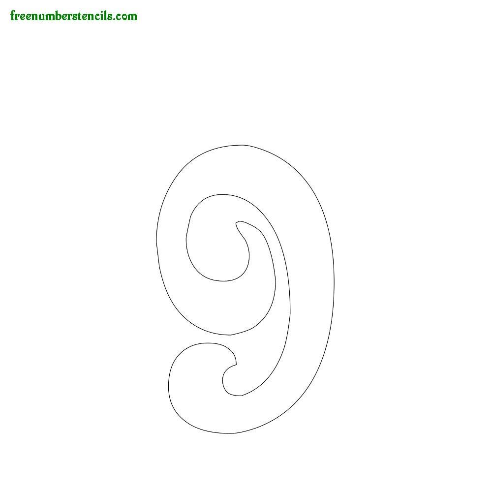 Spirals stencils to print online - Number 9