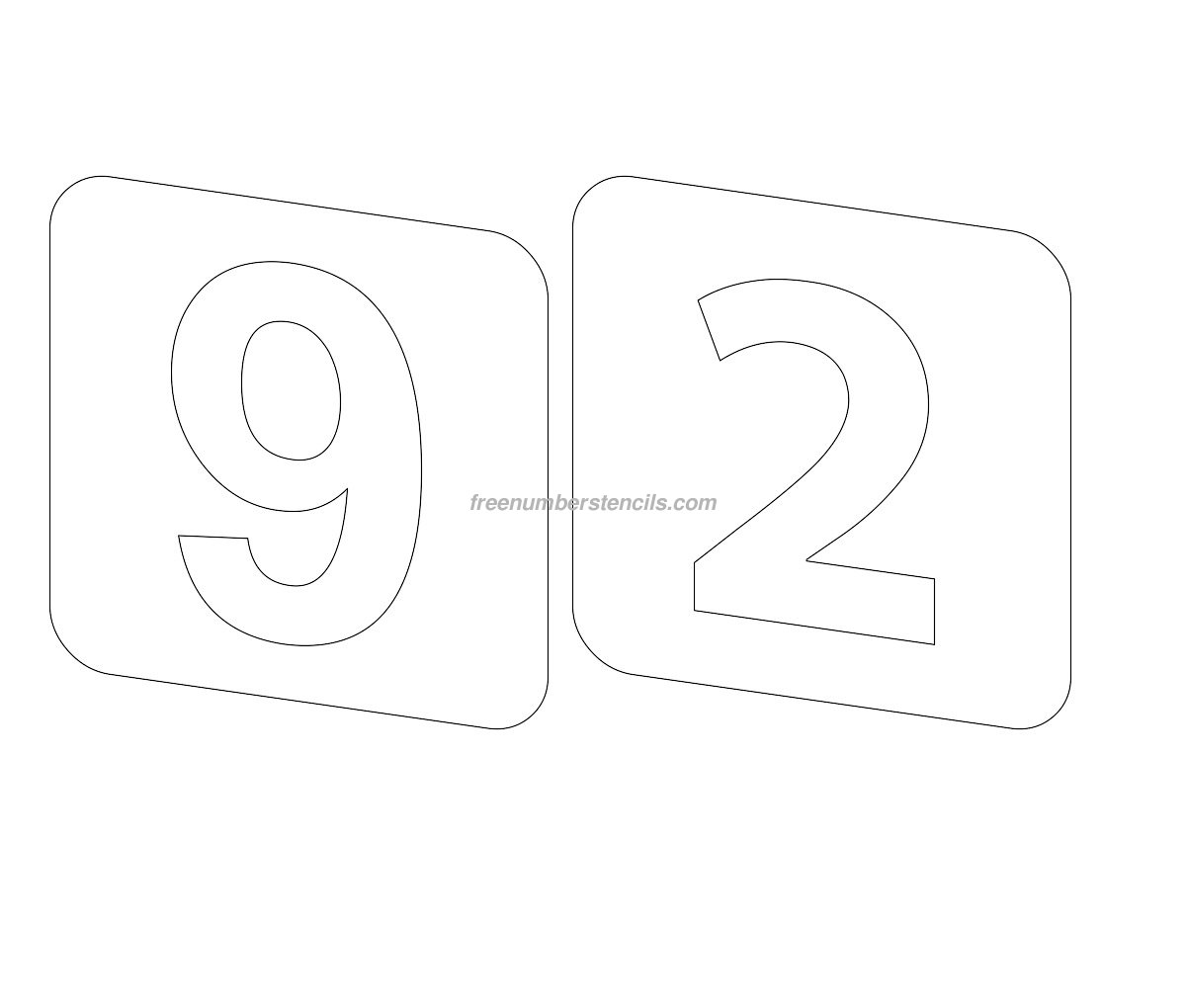 stencil-square-number-92
