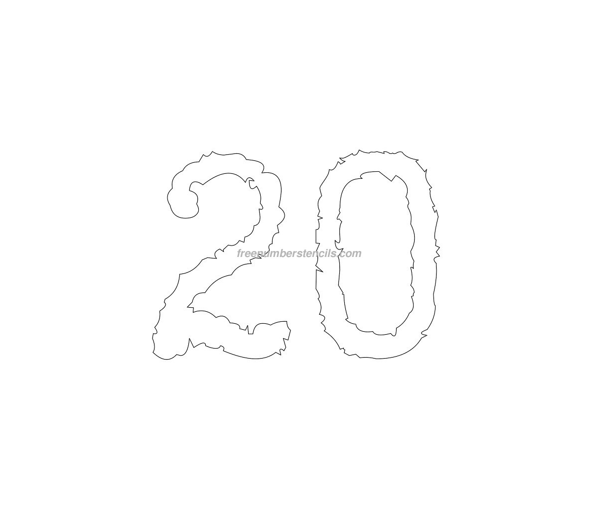 stencil-typewriter-number-20