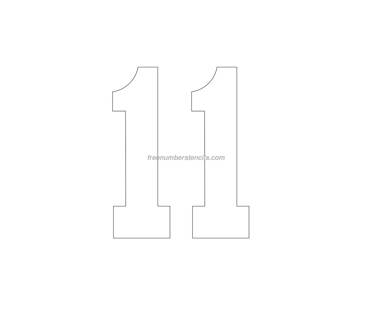 free football 11 number stencil