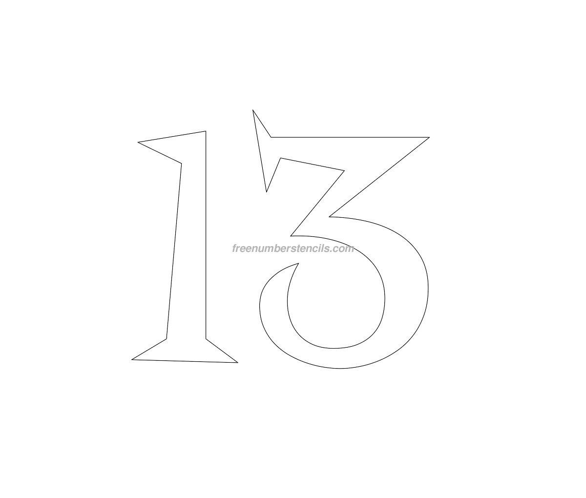 elegant numbers template - HD1200×1020