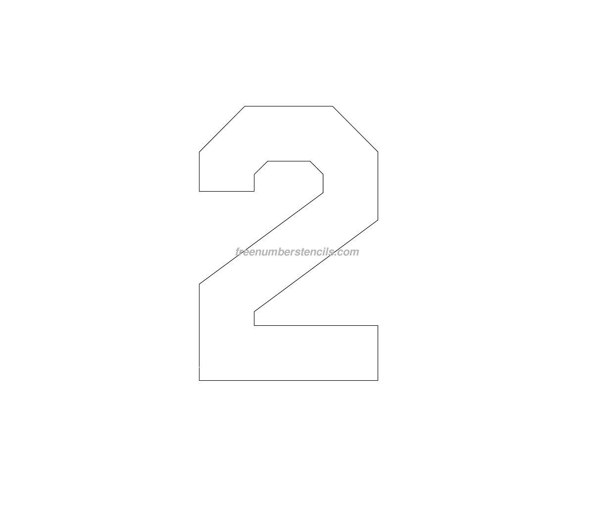 Free Jersey Printable 70 Number Stencil - Freenumberstencils.com