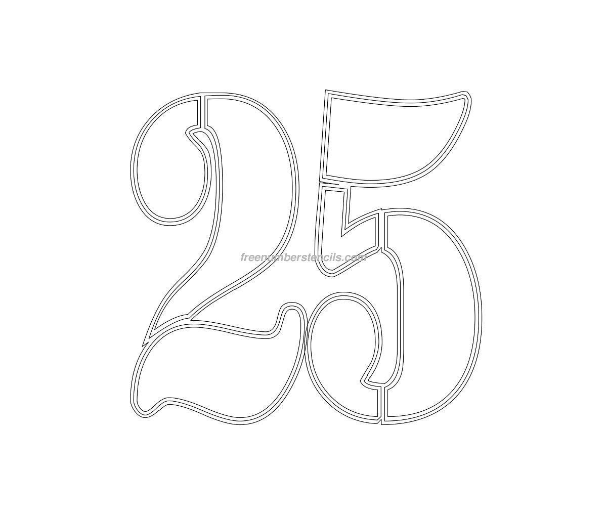 free military 25 number stencil