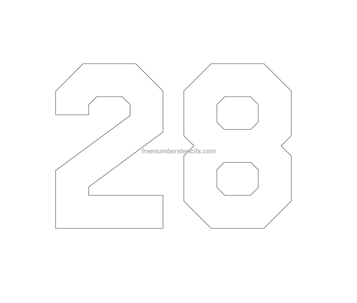 Hockey number stencils archives freenumberstencils free hockey 28 number stencil alramifo Image collections