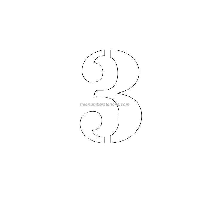 6 inch numbers archives freenumberstencils free 6 inch 3 number stencil pronofoot35fo Choice Image