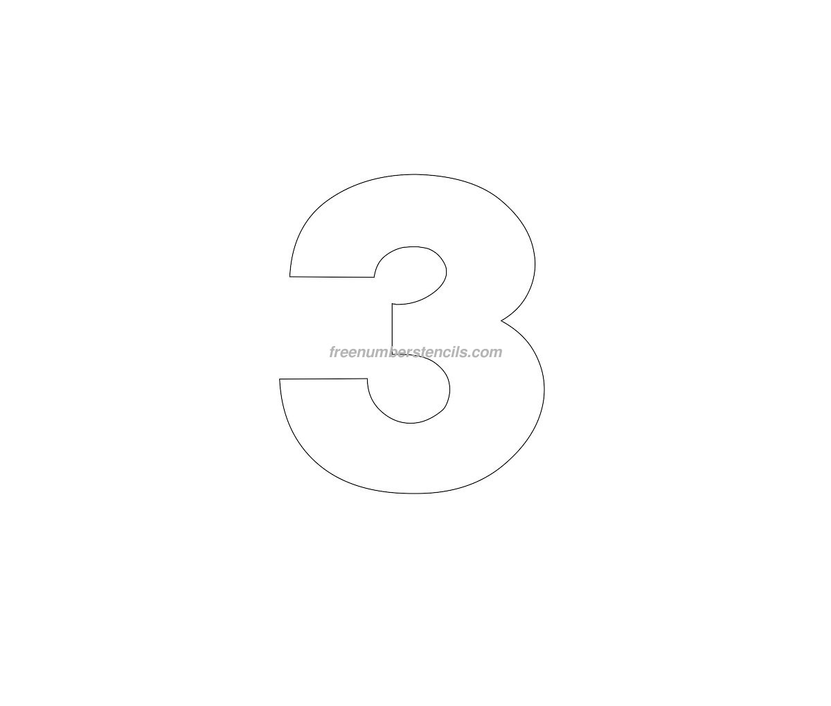 free helvetica 3 number stencil