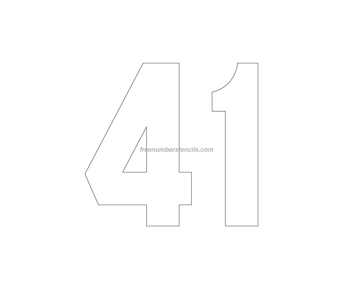 Free Jersey Printable 41 Number Stencil
