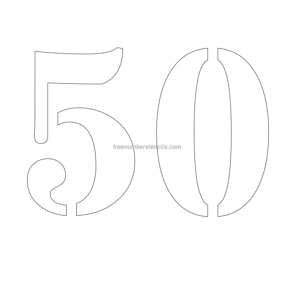 Трафарет с цифрой с юбилеем 50
