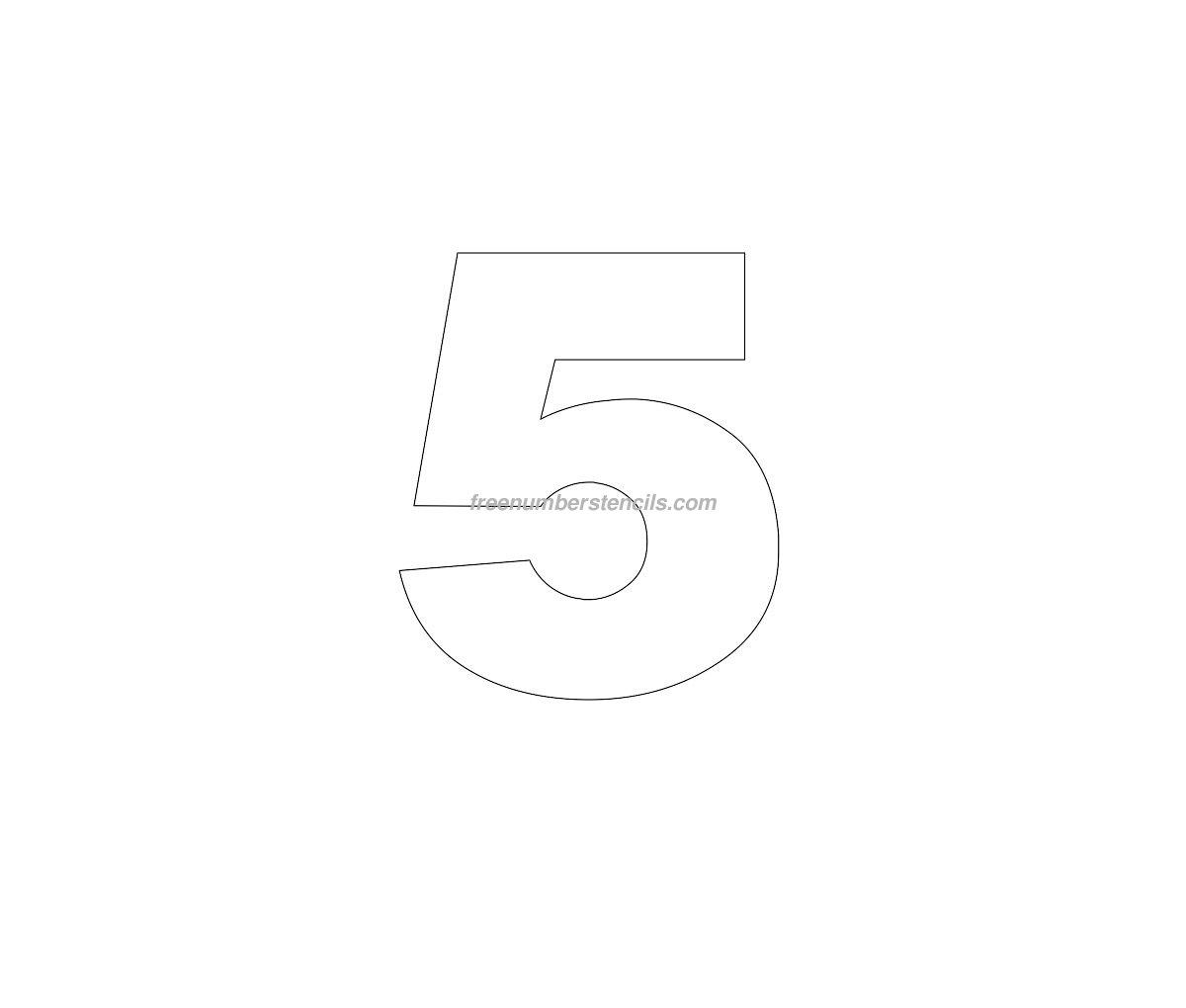 Free helvetica 5 number stencil freenumberstencilscom for Helvetica letter stencils