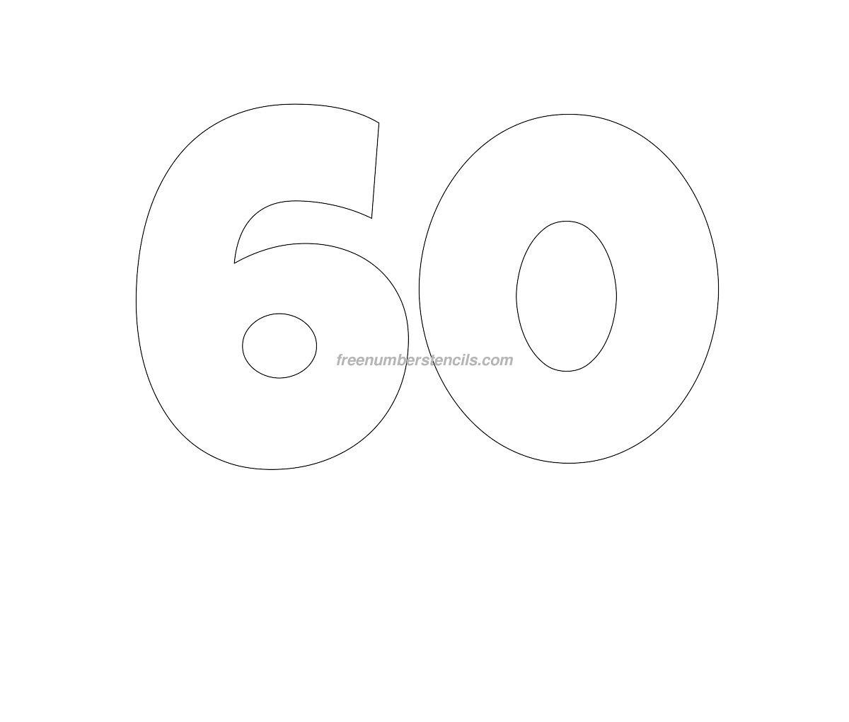 Трафареты цифр для вырезания 55