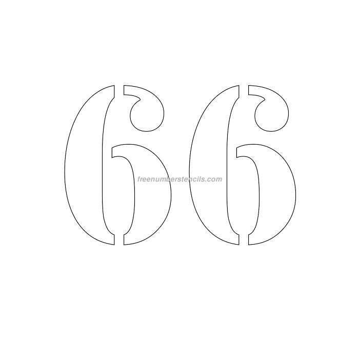 6 Inch Numbers Archives - Freenumberstencils.com