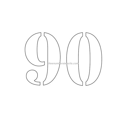 age 90 number images to print