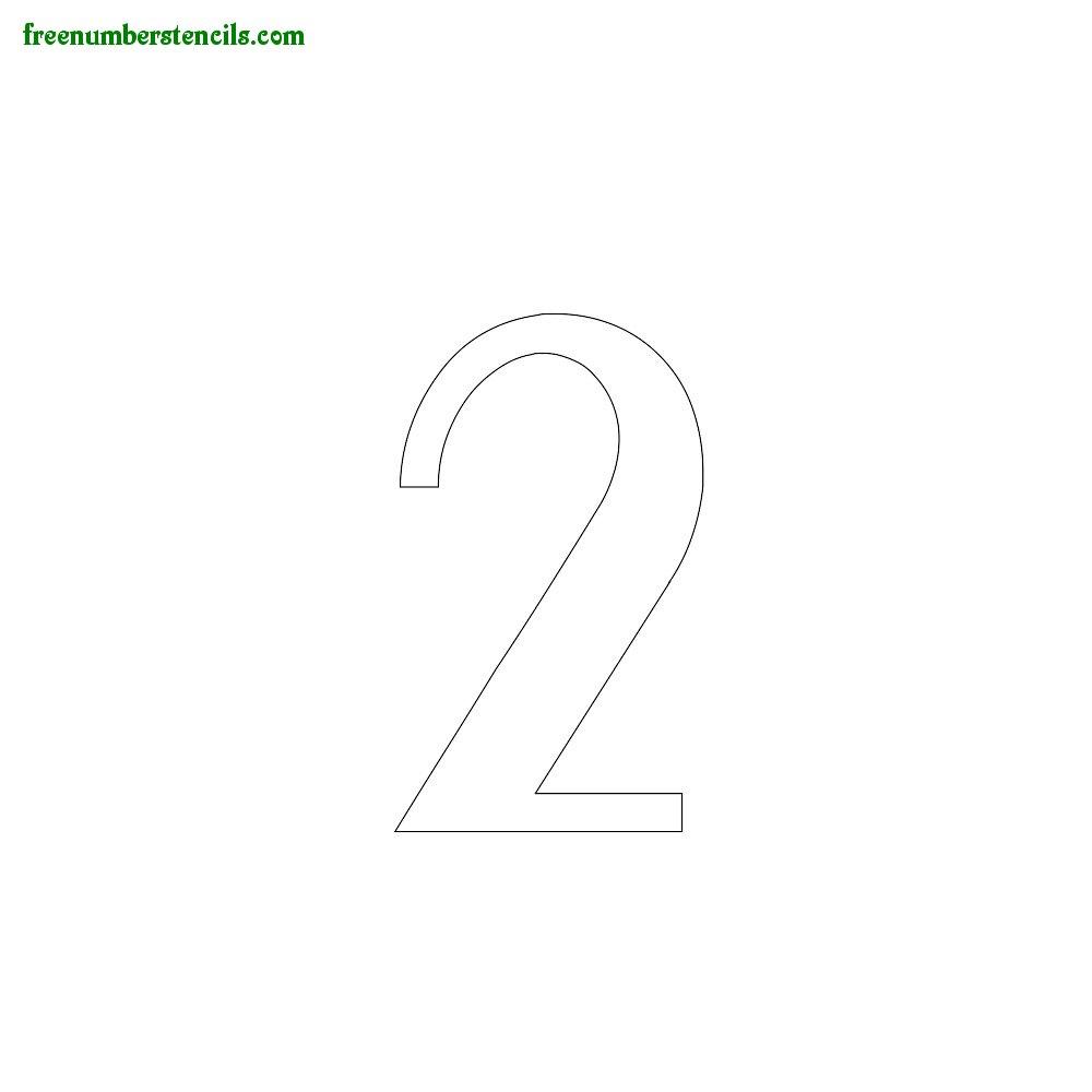 Script Number Stencils - number_2